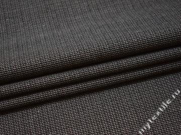 Костюмная серая ткань шерсть полиэстер ГД110