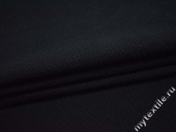 Костюмная темно-синяя фактурная ткань хлопок ВД635