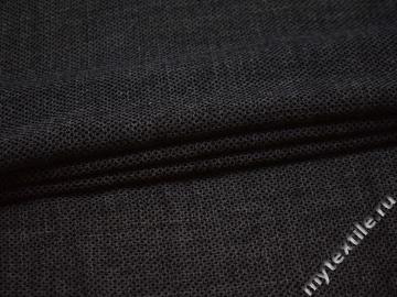 Костюмная серо-черная ткань шелк ГЕ545
