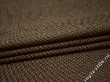 Костюмная коричневая ткань шерсть полиэстер ГЕ531