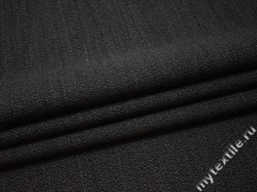 Костюмная серо-черная ткань шерсть полиэстер ГЕ530