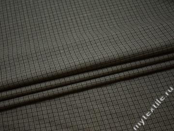 Костюмная серо-зеленая ткань шерсть полиэстер ГЕ522