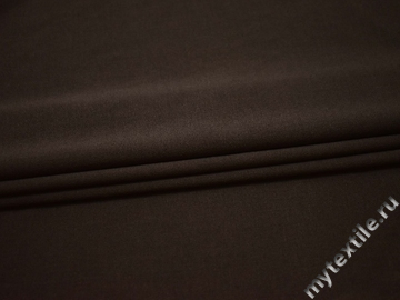 Костюмная коричневая ткань хлопок полиэстер ВБ530