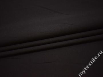 Костюмная фактурная темно-коричневая ткань хлопок ВБ522