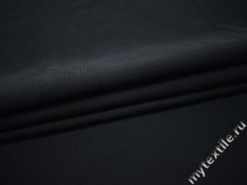Костюмная фактурная темно-синяя ткань хлопок ВБ521