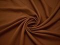 Костюмная коричневая ткань шелк хлопок ВБ469