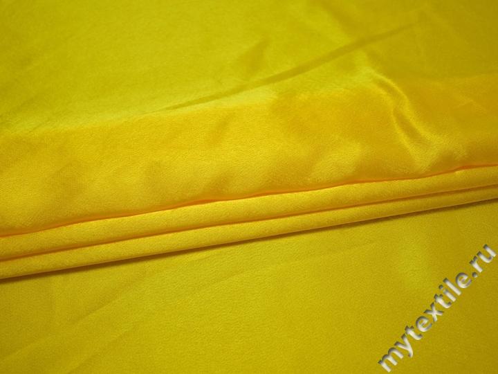 Креп-сатин желтый полиэстер ГБ1101