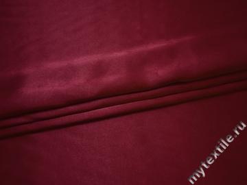 Креп-сатин бордовый полиэстер ГБ1139