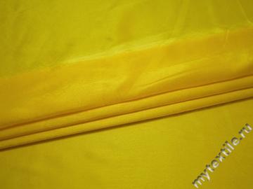 Креп-сатин желтый полиэстер ГБ1135