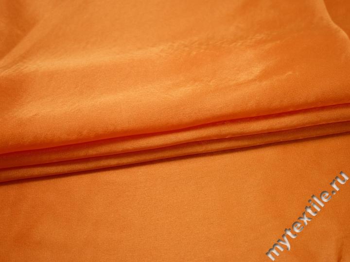 Креп-сатин оранжевый полиэстер ГБ1137