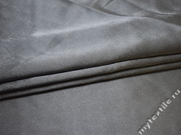 Креп-сатин серый полиэстер ГБ179