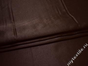 Креп-сатин коричневый полиэстер ГБ170