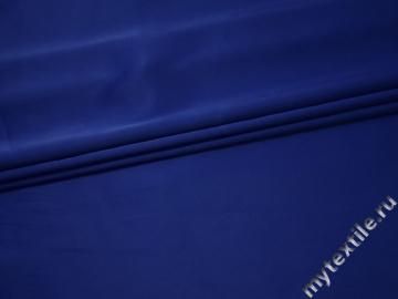 Атлас плотный синий полиэстер эластан ГБ1132