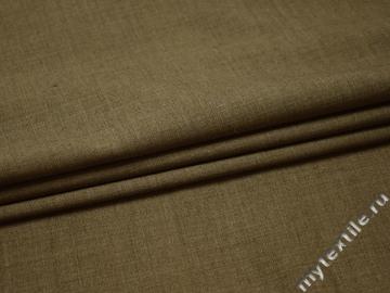 Костюмная оливковая ткань шерсть полиэстер ДЕ343