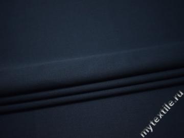 Костюмная синяя ткань шерсть полиэстер ДЕ335