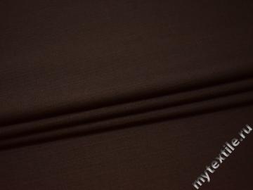 Костюмная коричневая ткань шерсть полиэстер ДЕ334