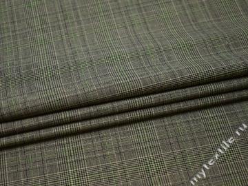 Костюмная серо-зеленая ткань шерсть полиэстер ДЕ333