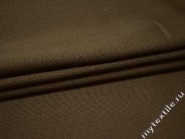 Костюмная цвета хаки ткань шерсть полиэстер ДЕ332