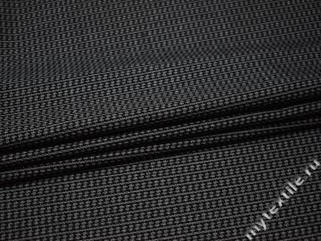 Костюмная серо-черная ткань шерсть полиэстер ДЕ328