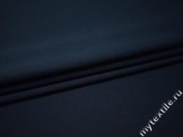 Костюмная синяя ткань шерсть полиэстер ДЕ326