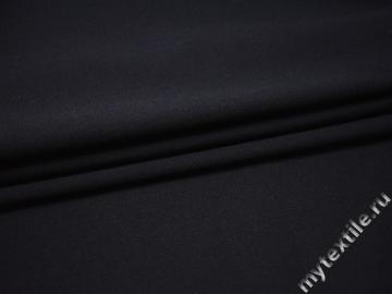 Костюмная темно-синяя ткань шерсть полиэстер ДЕ324