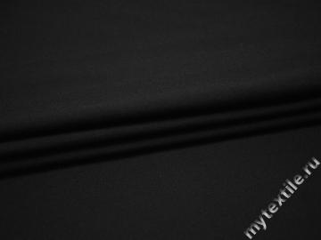 Костюмная черная ткань шерсть полиэстер ДЕ319