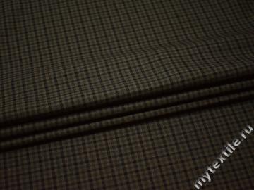 Костюмная черная хаки ткань шерсть полиэстер ДЕ315