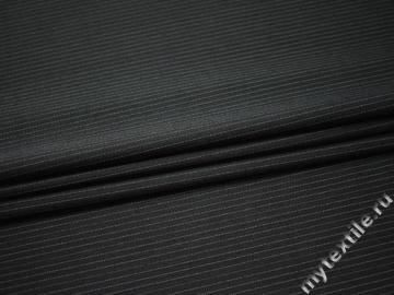 Костюмная черная ткань шерсть полиэстер ДЕ313