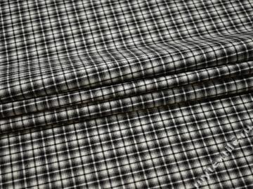 Костюмная черно-белая ткань шерсть полиэстер ДЕ311