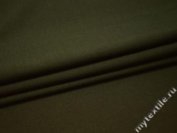 Костюмная цвета хаки ткань шерсть полиэстер ДЕ39