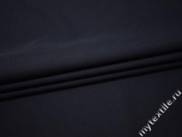 Костюмная синяя ткань шерсть полиэстер ДЕ33