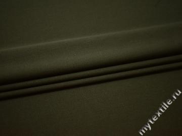 Костюмная цвета хаки ткань шерсть полиэстер ДЕ31
