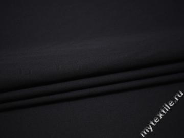 Костюмная синяя ткань шерсть полиэстер ДЕ38