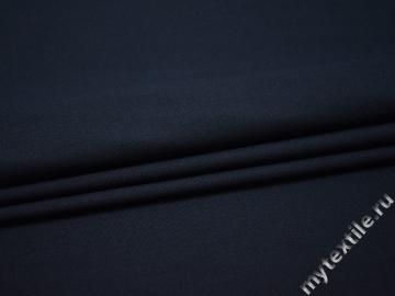 Костюмная синяя ткань шерсть полиэстер ДЕ336