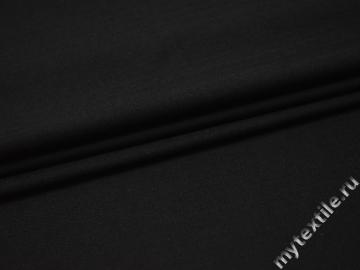 Костюмная черная ткань шерсть полиэстер ДЕ337