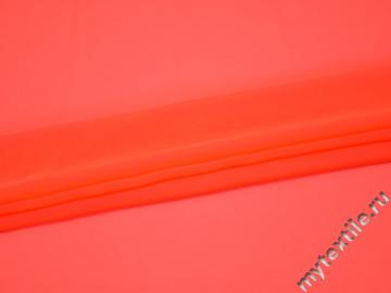Шифон однотонный оранжевый полиэстер японский ГБ2-6