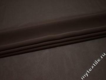 Шифон однотонный коричневый полиэстер ГБ2112