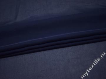 Шифон однотонный синий полиэстер ГБ2100