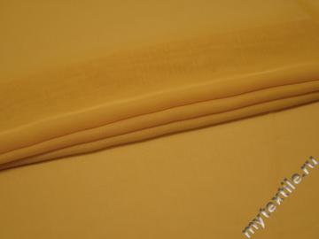 Шифон однотонный желтый полиэстер ГБ285