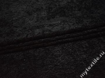 Мех черный полиэстер ДВ428
