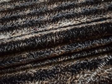 Мех серо-коричневый полиэстер ДВ431