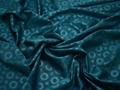 Жаккард синий круги полиэстер ГГ365