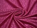 Жаккард розовый круги полиэстер ГГ314