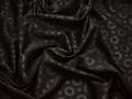Жаккард коричневый круги полиэстер ГГ312