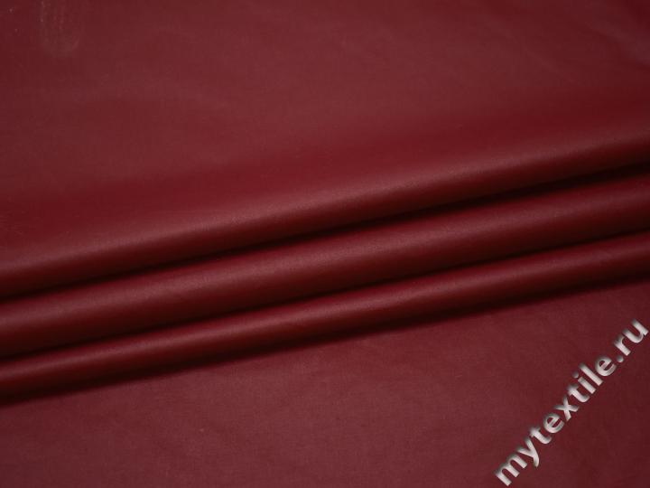 Курточная бордовая ткань хлопок полиэстер БЕ33