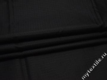 Курточная ткань черная геометрия полиэстер БЕ322