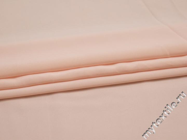 Плательная розовая ткань хлопок эластан БА275