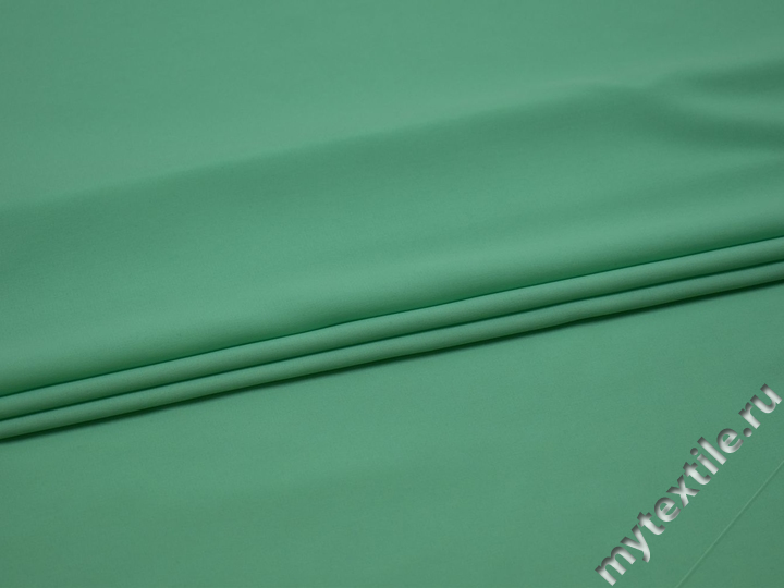 Плательная мятная ткань полиэстер эластан БА253