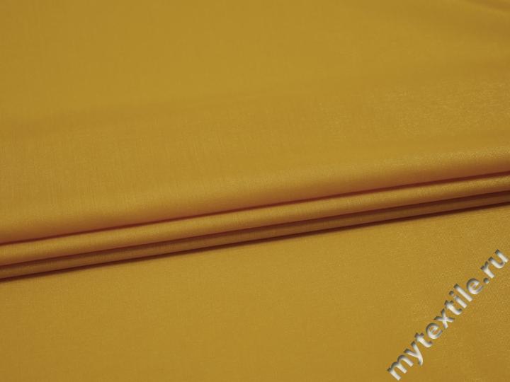 Плательная желтая ткань вискоза полиэстер БА250