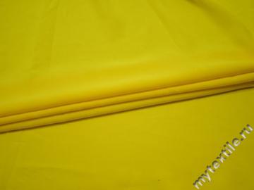 Плательная желтая ткань полиэстер БА248